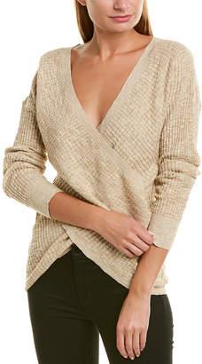 Very J Waffle Knit Linen-Blend Pullover