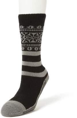 Dearfoams Men's Thermal Crew Slipper Socks