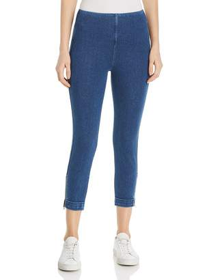 Lysse Cropped Ankle-Zip Denim Leggings