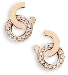 Piaget Possession Diamond& 18K Rose Gold Stud Earrings