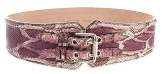 Burberry Snakeskin Waist Belt