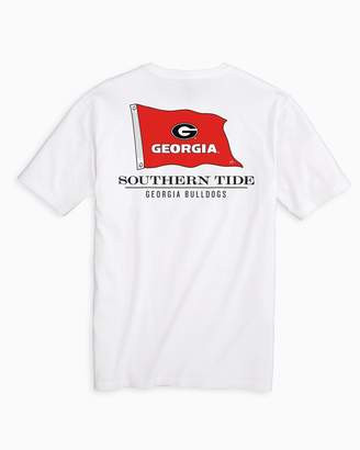 Southern Tide Gameday Nautical Flags T-shirt - University of Georgia