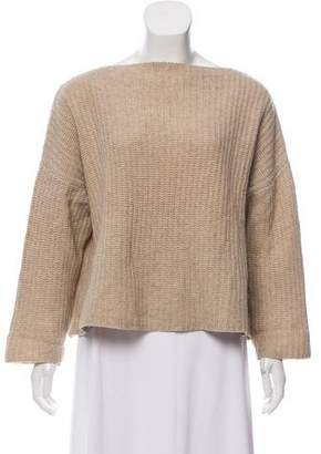 Vince Oversize Cropped Knit Sweater