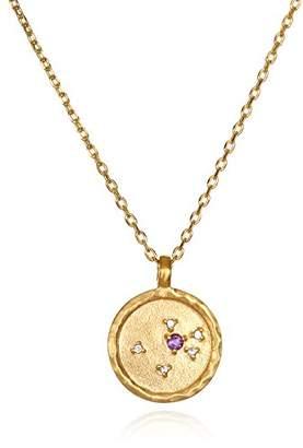 Satya Jewelry Sagittarius Constellation Topaz White Topaz Zodiac Necklace (18-inch)