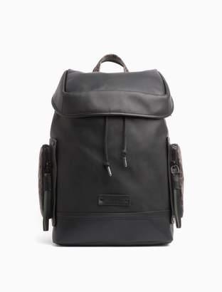 Calvin Klein logo flap backpack