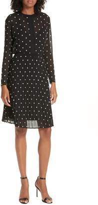 Maje Printed Fit & Flare Dress