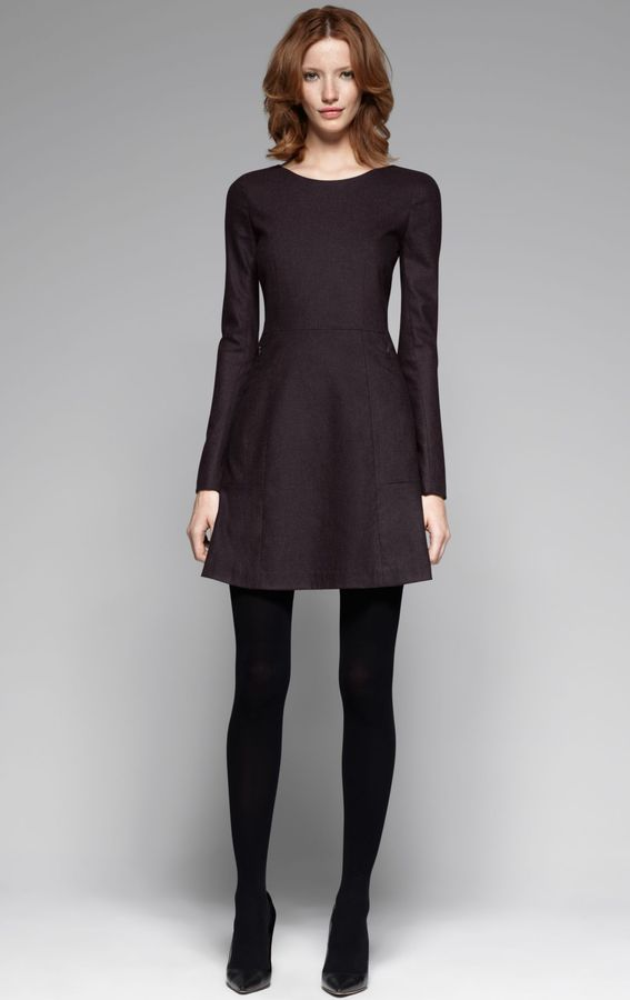 Theory Pallavi W Wool Dress