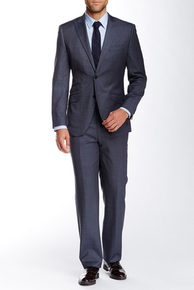 English Laundry Grey Windowpane Two Button Peak Lapel Wool Suit $695 thestylecure.com
