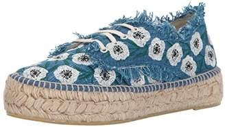 Loeffler Randall Women's Alfie (Woven Embroidery) Espadrille Wedge Sandal