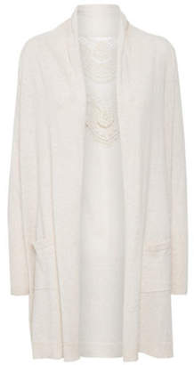 Cream Kylie Knit Cotton Cardigan