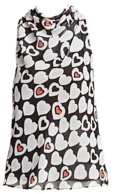 Emporio Armani Heart Print Sleeveless Blouse