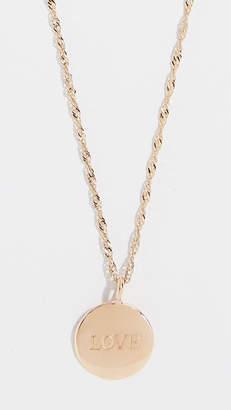 Ariel Gordon Jewelry 14k Demi Medallion Signet Necklace