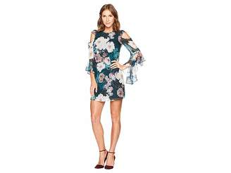 CeCe Lana Cold Shoulder Twilight Garden Dress