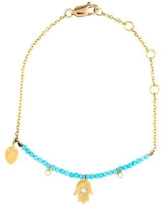 Meira T Turquoise & Diamond Hamsa Bracelet
