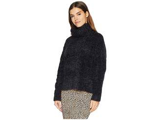 BB Dakota Eyelash Kisses Chenille Cable Knit Sweater