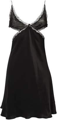 Kiki de Montparnasse Lace And Silk Cut Out Slip Dress