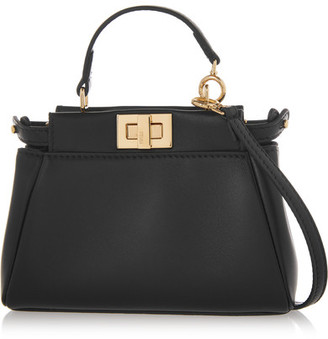 Fendi - Peekaboo Micro Leather Shoulder Bag - Black $1,550 thestylecure.com