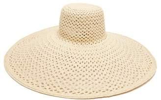 7f94a97b52c BEIGE Lola Hats - Pergola Wide Brim Straw Hat - Womens