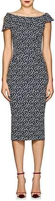 Zac Posen Women's Cotton-Blend Jacquard Sheath Dress - Blue Pat.