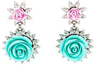 Dannijo Resin & Crystal Mabel Earrings