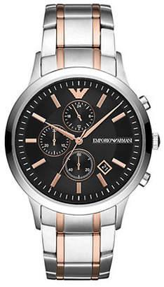 Emporio Armani Renato Chronograph Two-Tone Stainless Steel Bracelet Watch