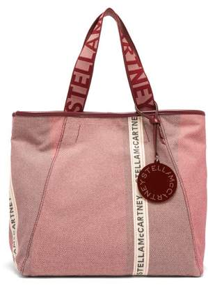 Stella McCartney Patchwork Logo Jacquard Canvas Tote Bag - Womens - Pink Multi