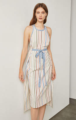 BCBGMAXAZRIA Striped Wrap Sundress