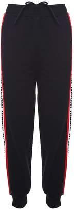 MSGM Logo-intarsia Cotton Track Pants