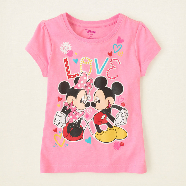 Children's Place Mickey and Minnie love graphic tee