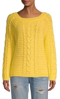 Rebecca Minkoff Juna Wool-Blend Cabled Sweater