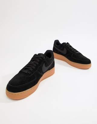 Nike Force 1 '07 LV8 Suede Sneakers In Black AA1117-001