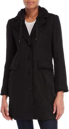 BCBGeneration Hooded Knit Long Sleeve Jacket