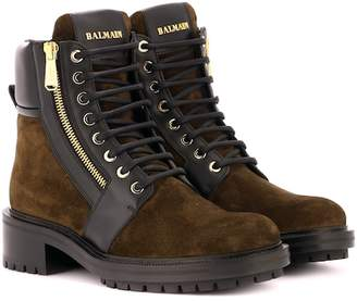 Balmain Army Ranger suede ankle boots