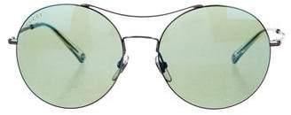 Gucci Round Mirrored Sunglasses