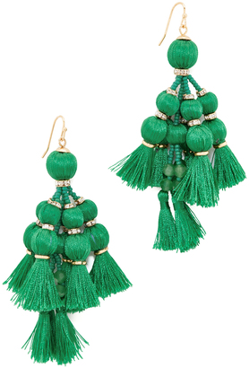 Kate Spade New York Pretty Poms Tassel Statement Earrings $98 thestylecure.com