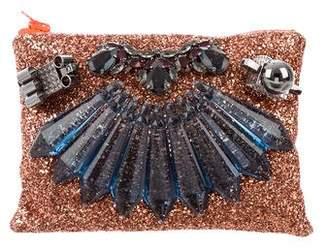 Mawi Glitter Embellished Clutch