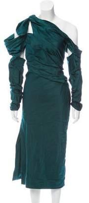 Monse Cold-Shoulder Evening Dress w/ Tags