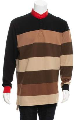 Givenchy Distressed Colorblock Henley Sweater