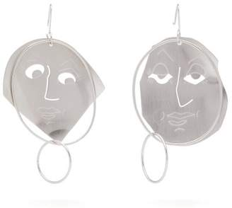 J.W.Anderson Moon Face Drop Earrings - Womens - Silver