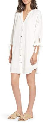 Splendid Double Cloth Shirtdress