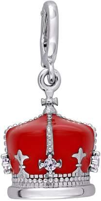 Laura Ashley Jewelry Sterling Enamel British Crown Charm