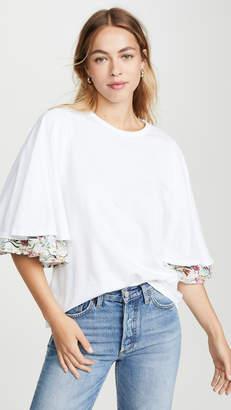 Clu Bell Sleeve Floral Print T-Shirt