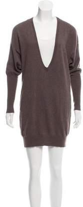 Brunello Cucinelli V-Neck Sweater Dress