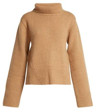 Wallis Khaite Cashmere Roll Neck Sweater - Womens - Beige