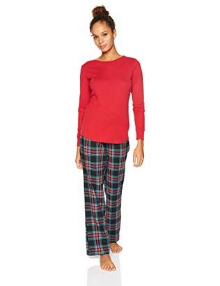 Amazon Essentials Women's Standard Flannel Pajama Set