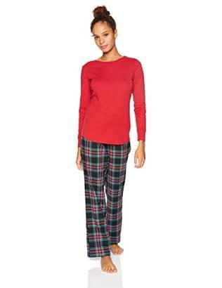 2d7ee5be28 Amazon Essentials Women s Lightweight Flannel Pajama Set