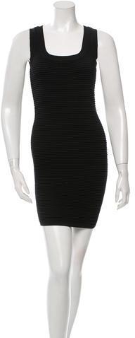 Torn by Ronny Kobo Ribbed Sleeveless Bodycon Dress