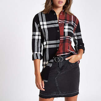 River Island Red check contrast long sleeve shirt