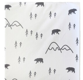 My Baby Sam Little Black Bear Changing Pad Cover Bedding