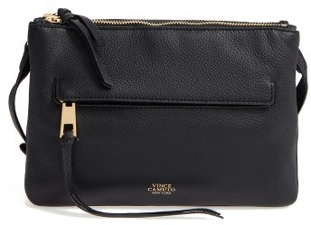 Vince Camuto Gally Leather Crossbody Bag - Black